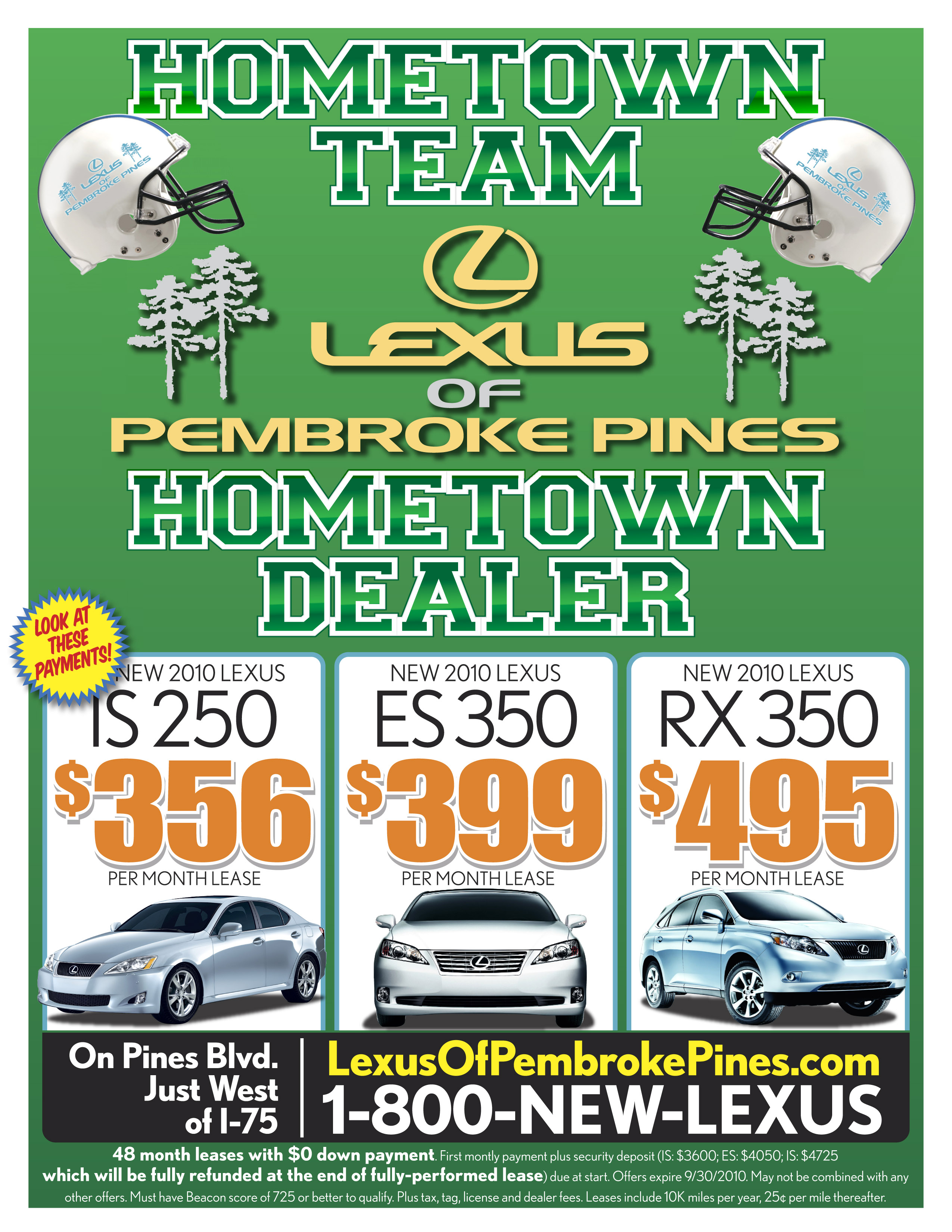 september special leases on the is250 es350 and rx350. Black Bedroom Furniture Sets. Home Design Ideas